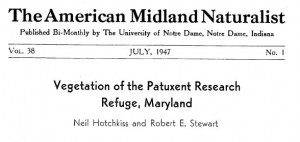 Vegetation of the Patuxent Research Refuge July 1947