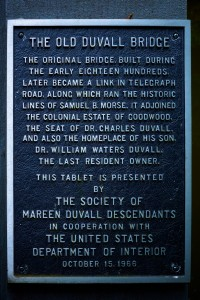 Plaque on the bridge